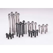 "1/4""-20 x 0.750 hex black oxide bolts"